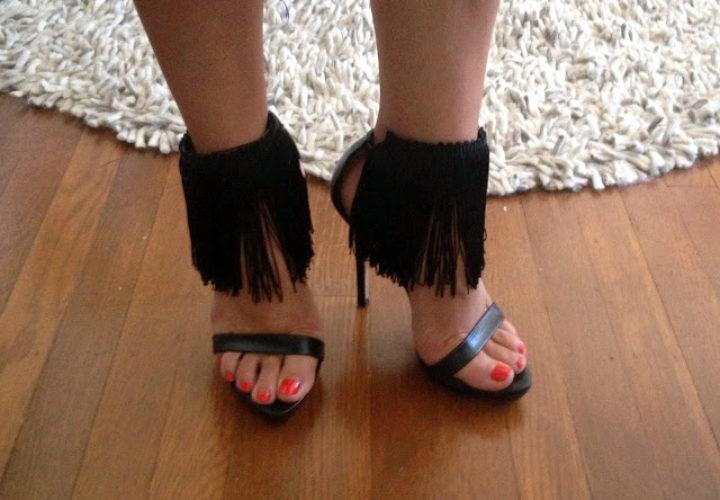 DIY Sexy Fringe Heels