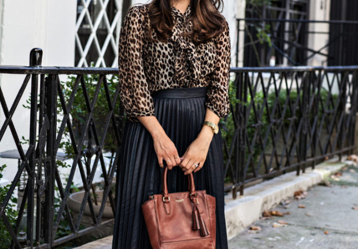 Fall into Leopard :: Forever 21 top & Zara skirt