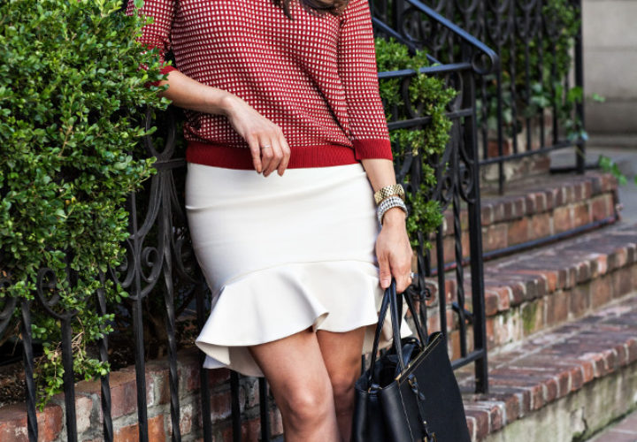 What to Wear to w Zara Sweater & Skirt