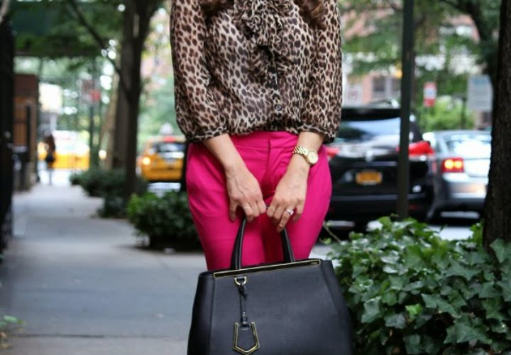 How to Wear Leopard with Pink