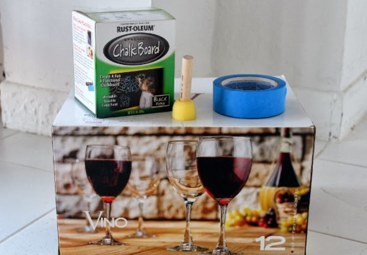 DIY :: Chalkboard Wine Glasses