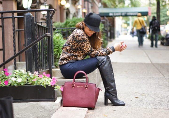 Meow :: Over the Knee Boots & Leopard Sweatshirt