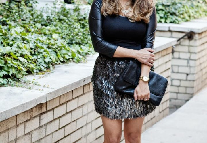 Party Time :: Ombre Sequin Mini & Black Accessories