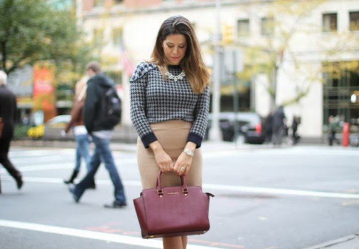 Houndstooth :: J Crew Skirt and Michael Kors Selma