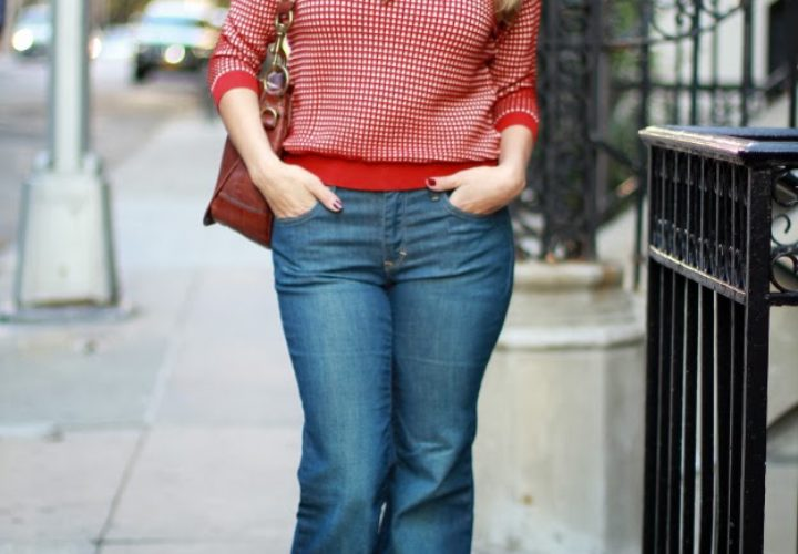 Wide Leg Jeans & Zara Sweater