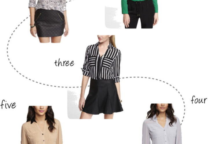 5 Work Blouses from Express under $30