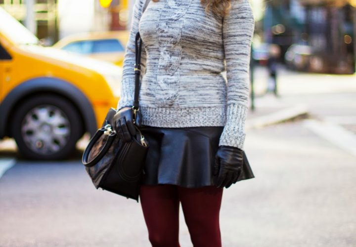 Sweater, Leather & Booties