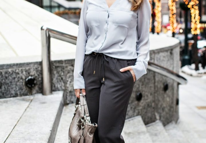 How to Wear Track Pants to Work