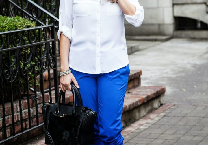 Feeling Blue in Weekend Casual Outfit