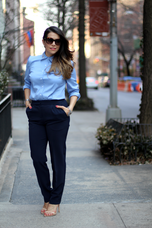 what to wear to work; professional women; workwear; ann taylor; jcrew suits; jcrew outfit; women's suit; fashion blogger; style blogger; button down shirt; zara shoes; ann taylor shirt; jcrew shirt; H&M pants; new york blogger; fendi sunglasses