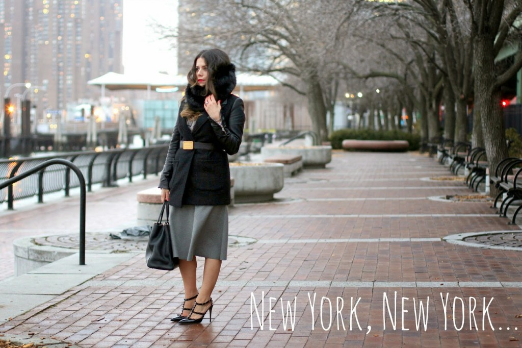 Belted Coat + Grey Midi Skirt, New York Fashion Blogger, Style Blogger, What to wear to Work
