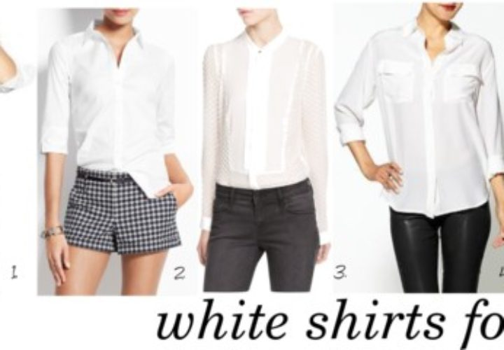 Five Perfect White Button Down Shirts for Work