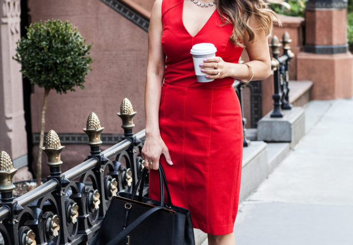 Office Style | Red Dress