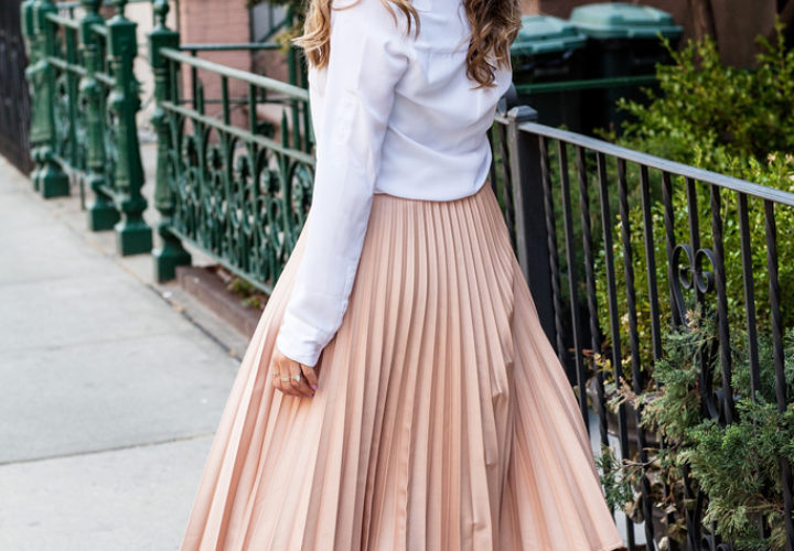 Office Style | Pleated Midi Skirt
