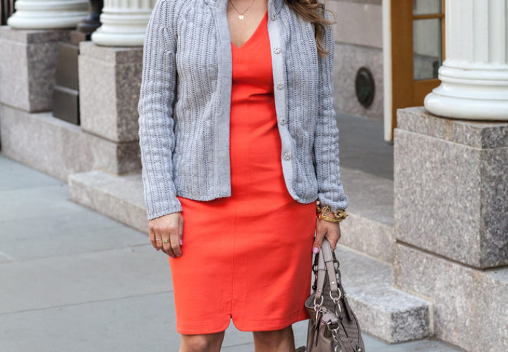 Office Style | Orange Dress