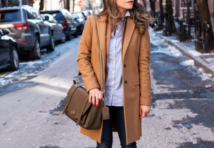 Casual Friday | Camel Trench + Skinny Denim