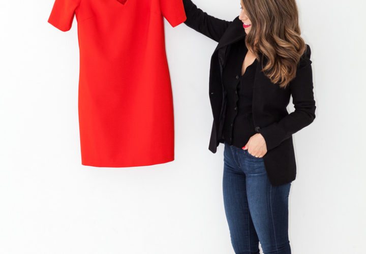 What to Wear to Work | Bright Structured Dress