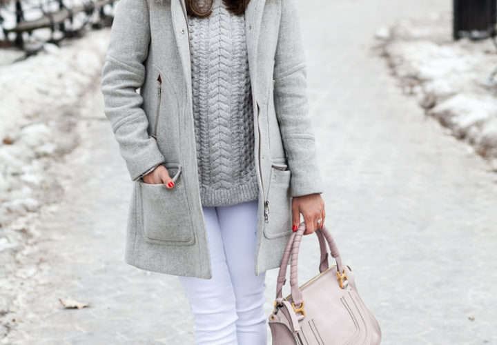 Casual Look | White, Grey & Blush Pink