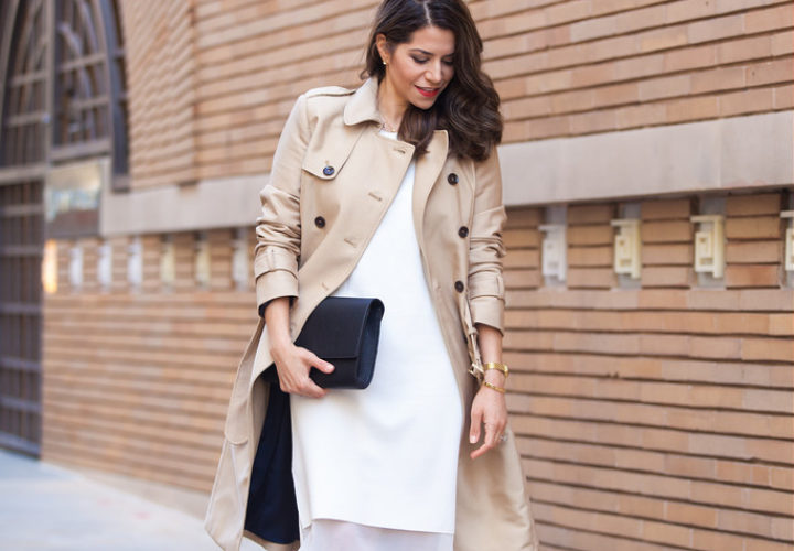 Spring Style | White Dress + Trench
