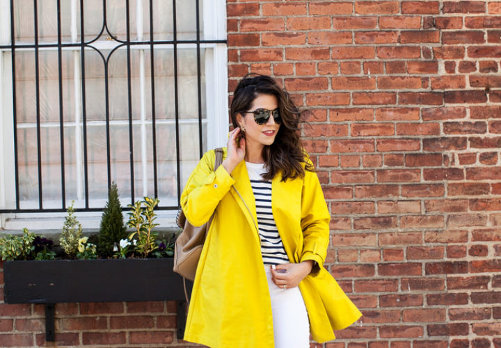 Spring Showers | Raincoat + Stripes