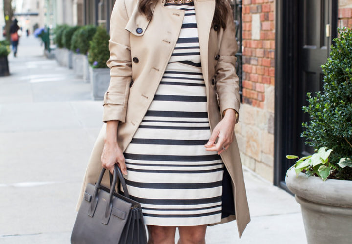 What to Wear to Work | Stripe Dress + Red Heels