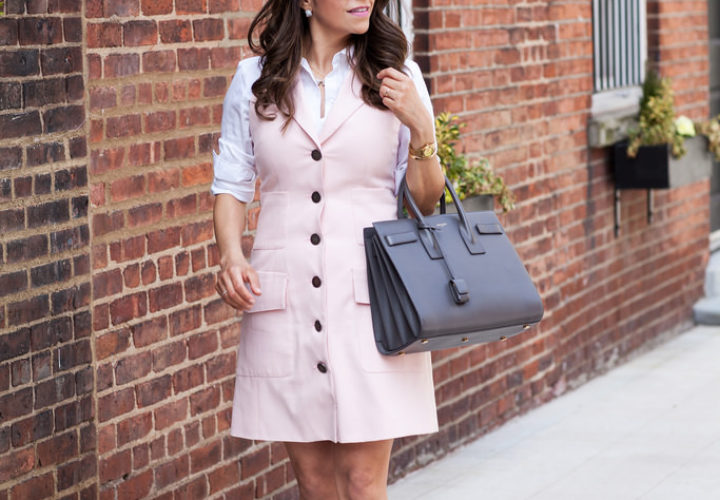 Spring Look | Pink Vest + Cateye Sunglasses