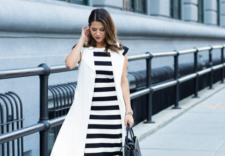 What to Wear to Work | Little Striped Dress