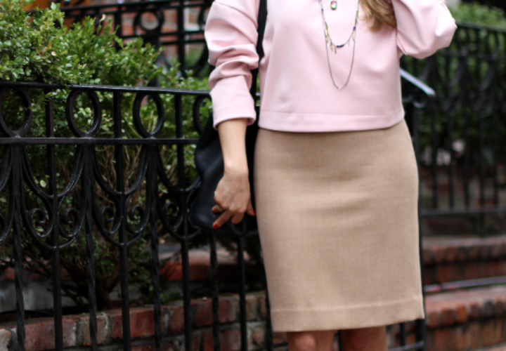 What to Wear to Work | J.Crew Pencil Skirt + Cropped Top