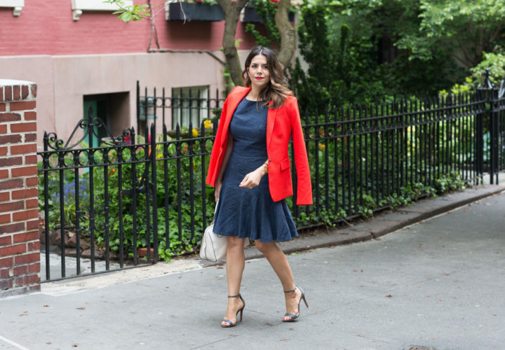 What to Wear to Work | Red Blazer