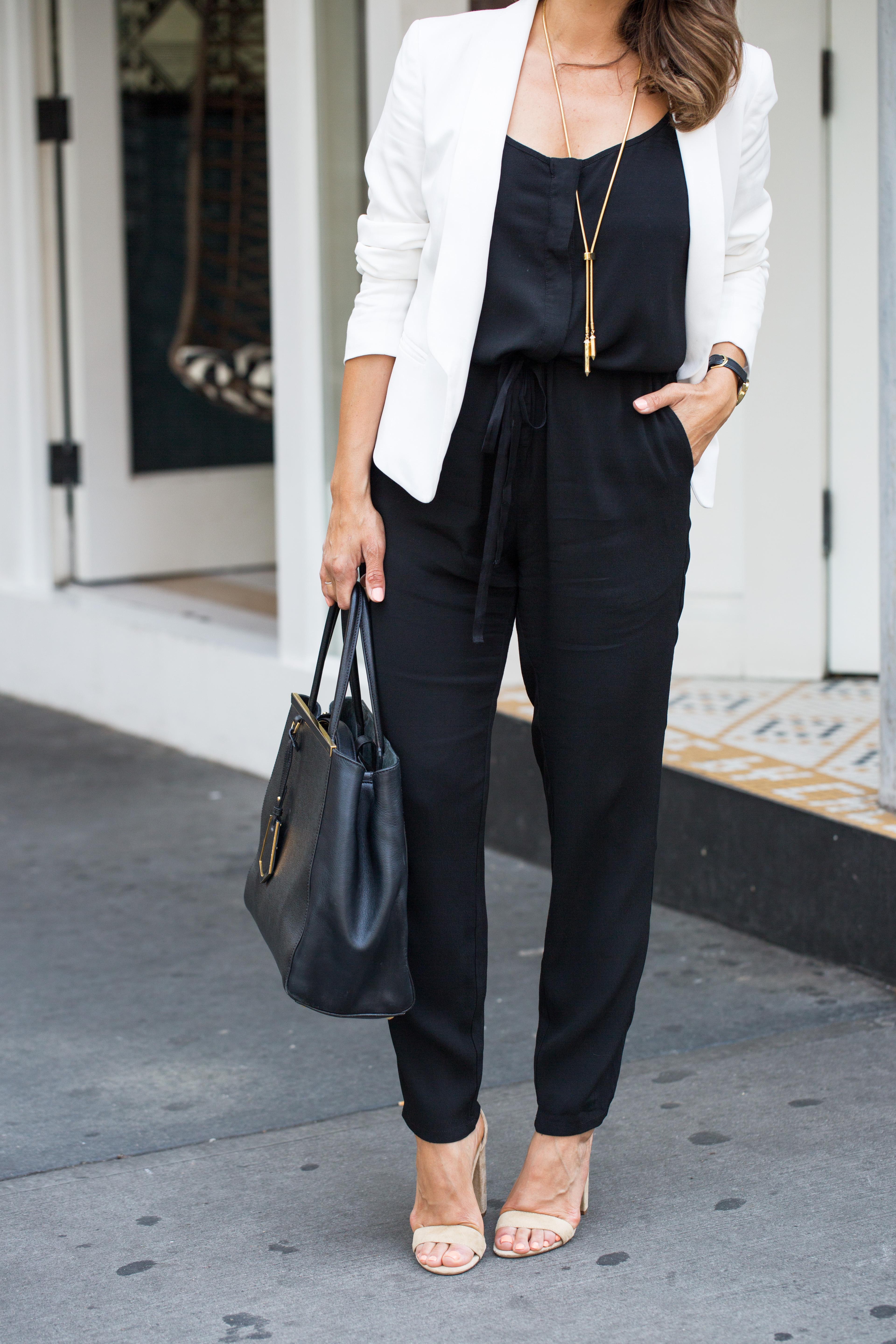 How to style a jumpsuit for work olivia jeanette for What to wear to a wedding besides a dress