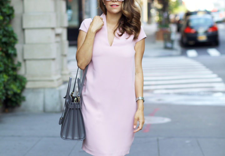 What to Wear to Work | Pink Shift Dress