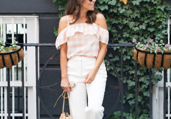 Weekend Style | Gingham Off the Shoulder