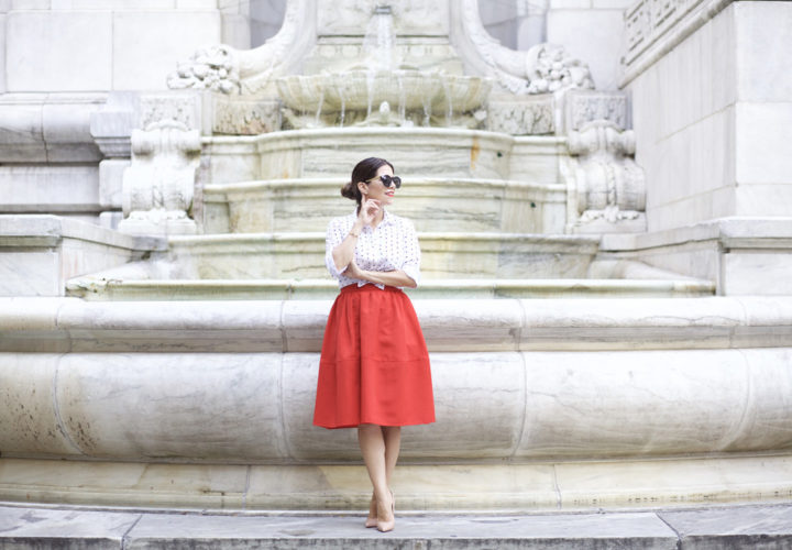 What to Wear to Work | Vibrant Red Skirt
