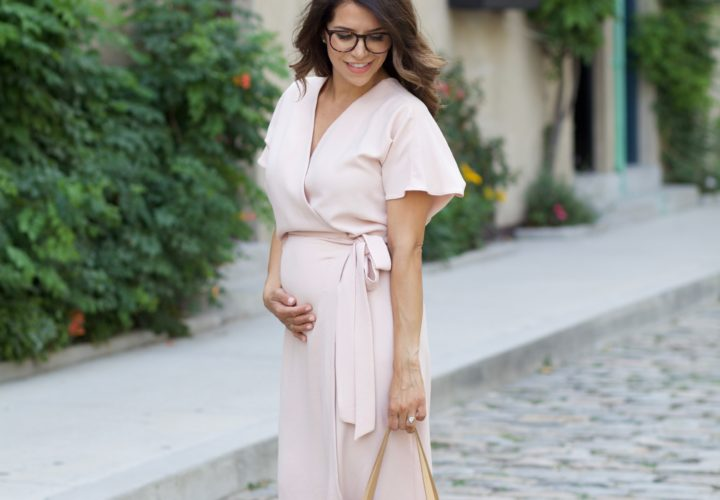 What to Wear to Work | Pink Wrap Dress