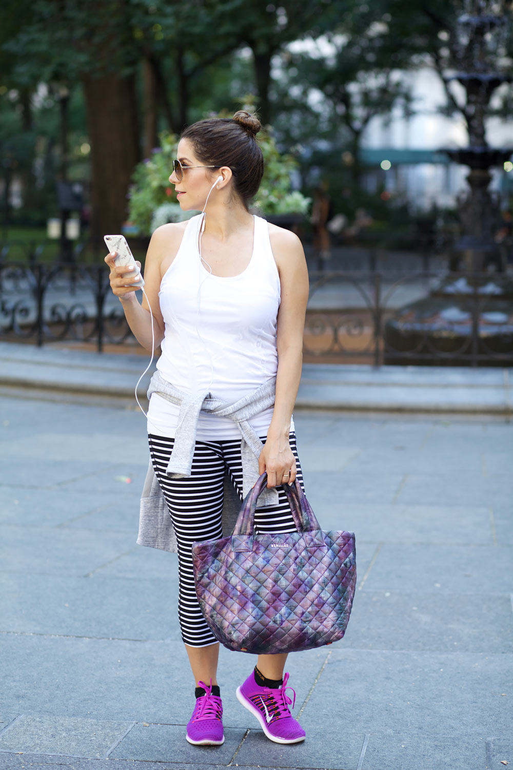 MZ Wallace purple tote black crossbody gym bags workng out after work nike athlta workout clothes workwear corporate catwalk10