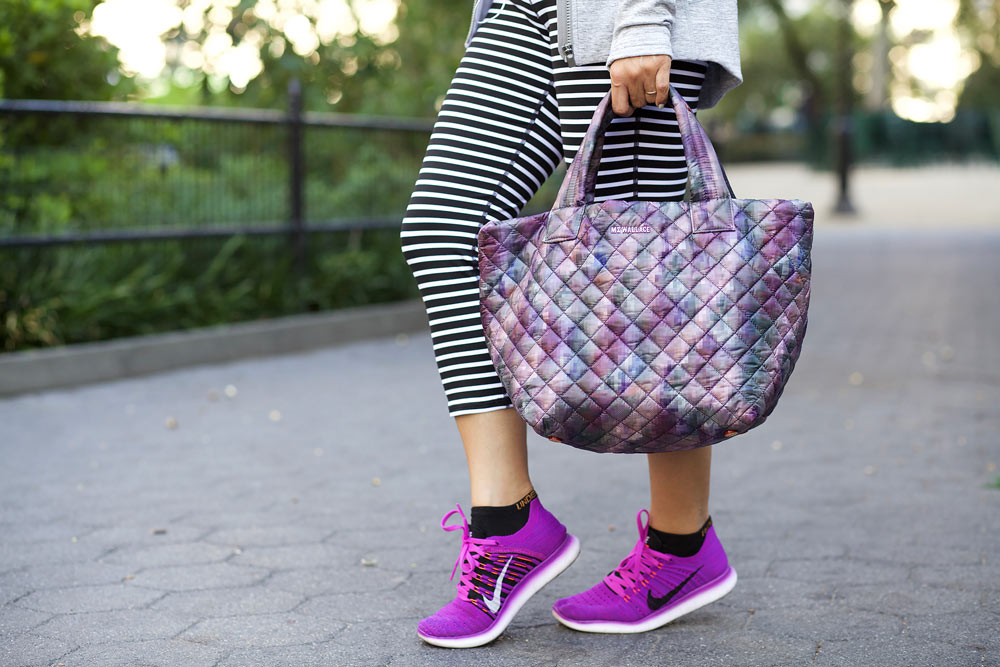 MZ Wallace purple tote black crossbody gym bags workng out after work nike athlta workout clothes workwear corporate catwalk15
