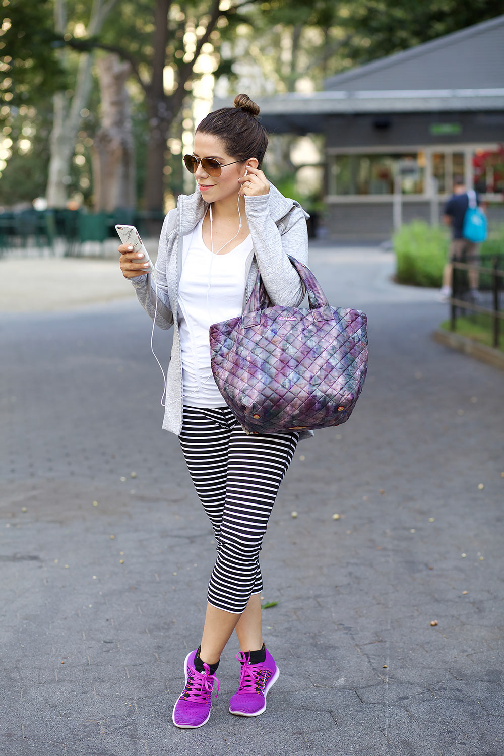 MZ Wallace purple tote black crossbody gym bags workng out after work nike athlta workout clothes workwear corporate catwalk4