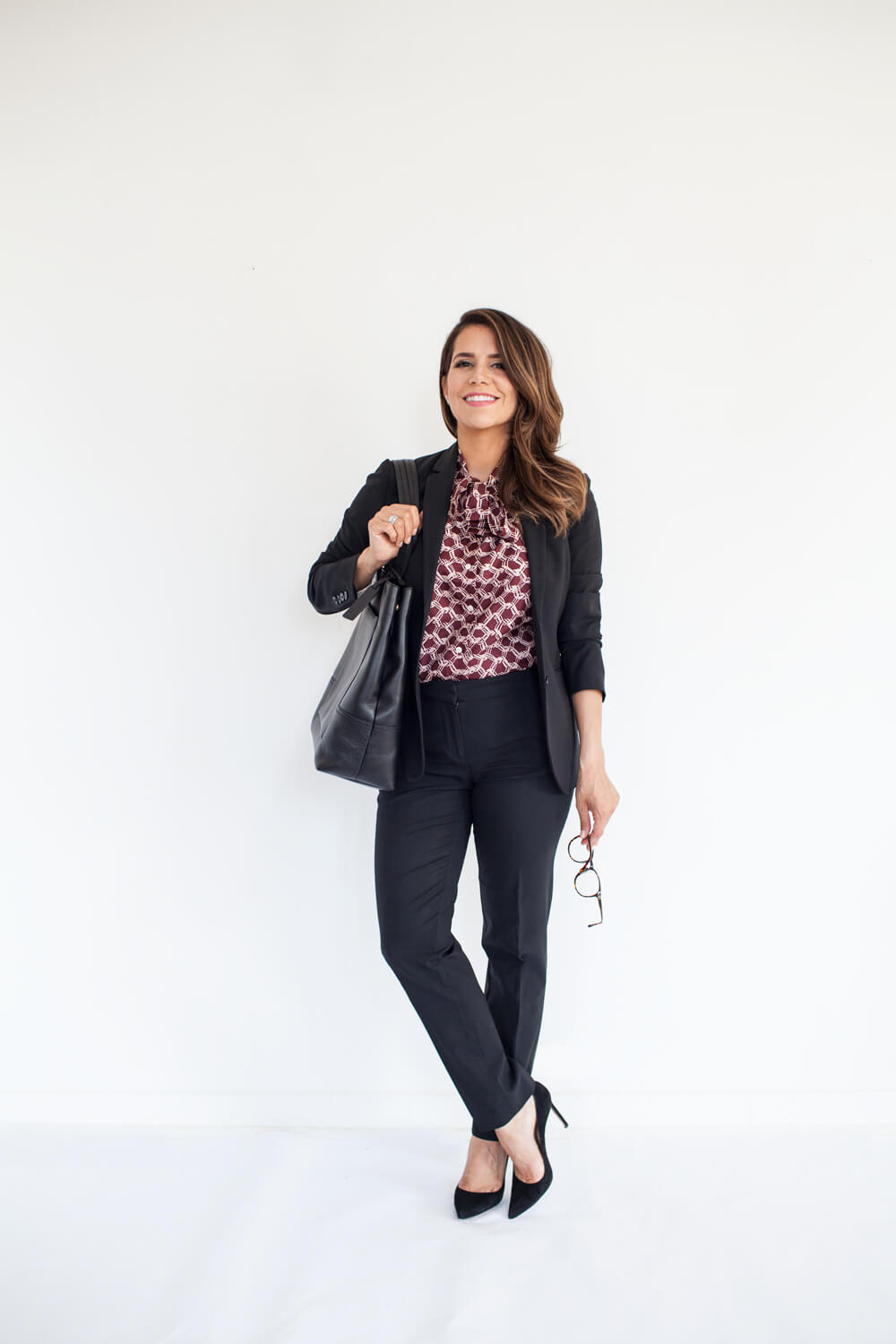 Ultimate Fall Work Wardrobe Capsule Collection Jcrew black leather bag staple pieces outfit ideas New york nyc fashion blogger corporate catwalk13