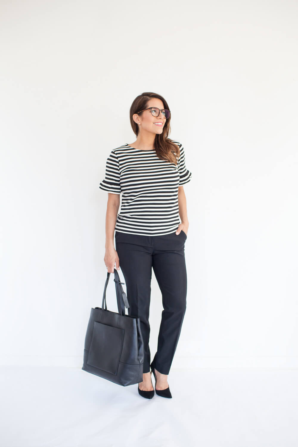 Ultimate Fall Work Wardrobe Capsule Collection Jcrew black leather bag staple pieces outfit ideas New york nyc fashion blogger corporate catwalk15