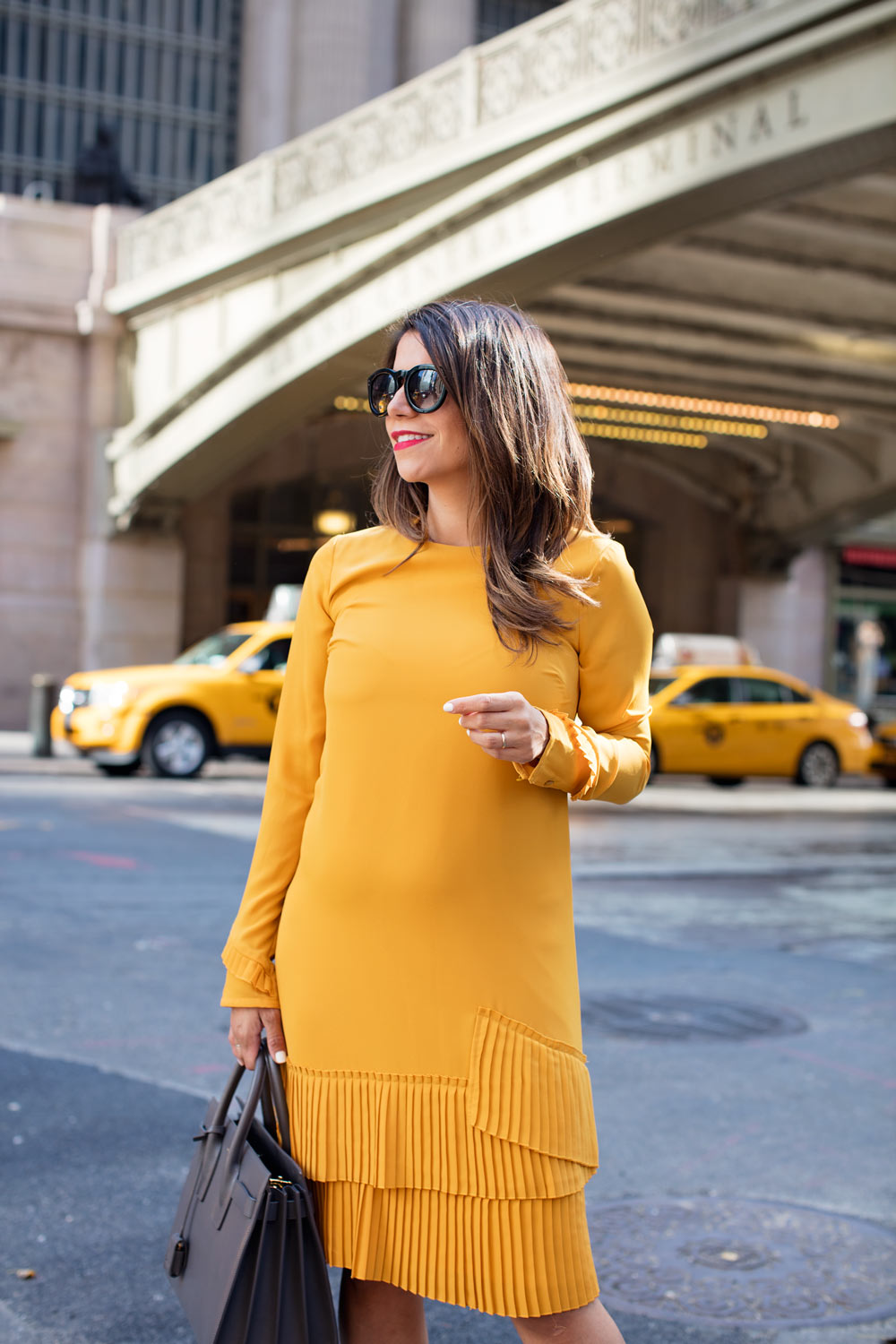 96f7723a7c asos mustard dress workwear what to wear to work hire a mentor career  contessa new york
