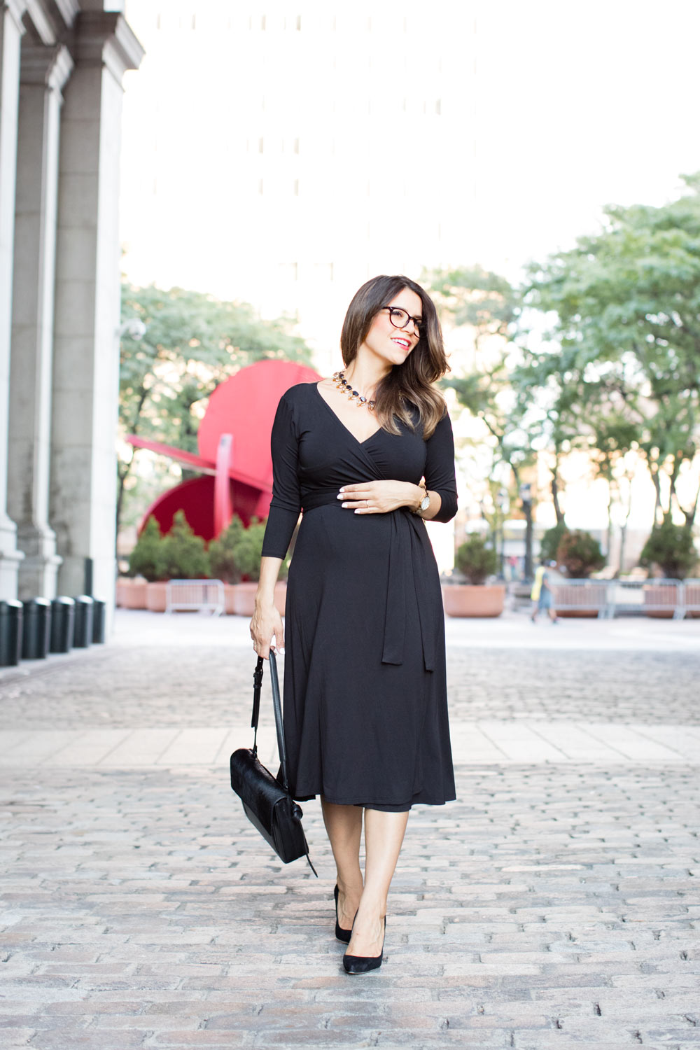 of Mercer work dresses what to wear to work workwear mott tweed dress sutton wrap dress maternity style pregnancy corporate catwalk new york city fashion blogger nyc