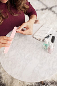 The Perfect Manicure At Home Manicure How to paint your own nails nail tutorial corporate catwalk new york fashion blogger nyc beauty blogger essie nail polish