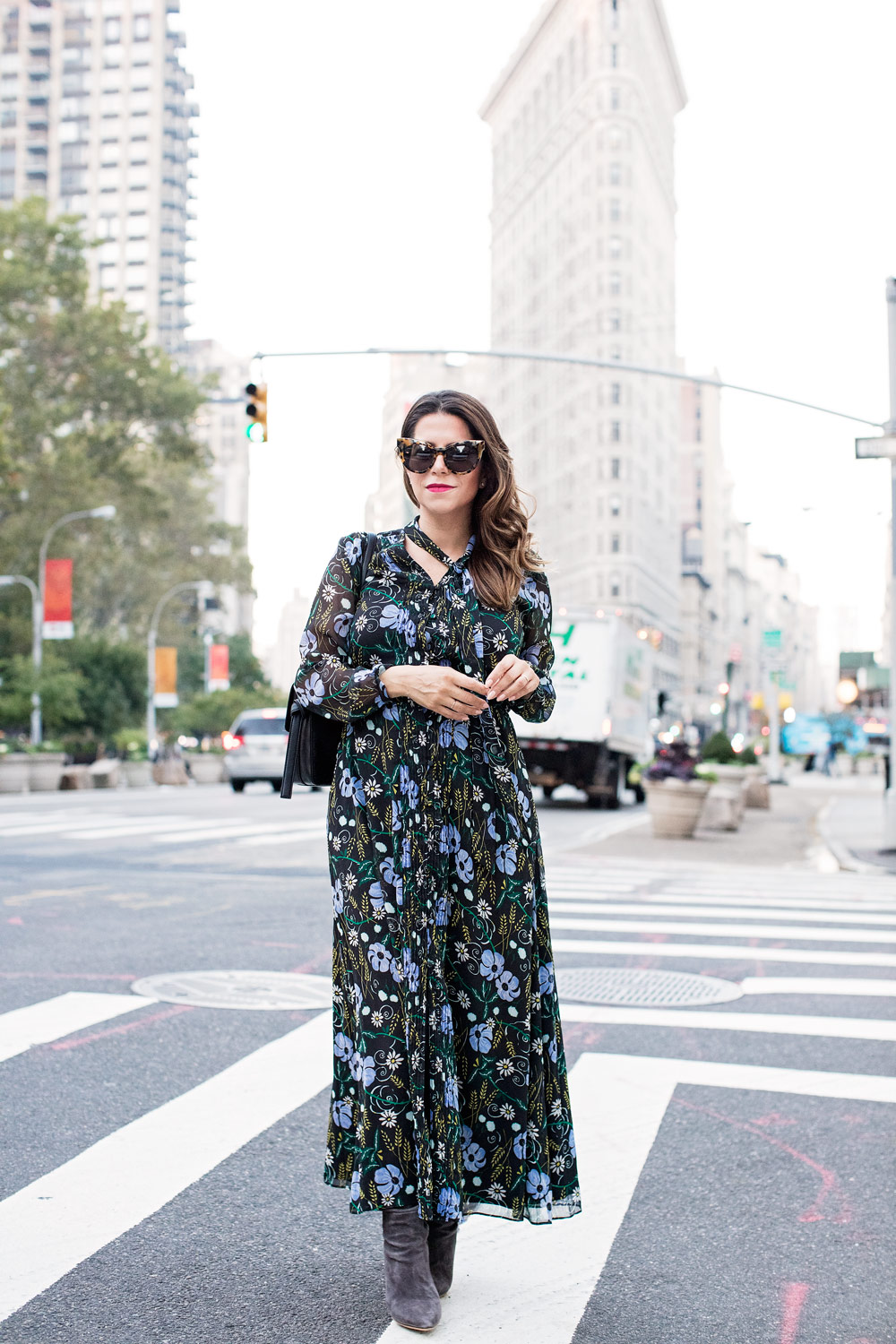 Maternity Style Floral Dress In Fall Olivia Jeanette