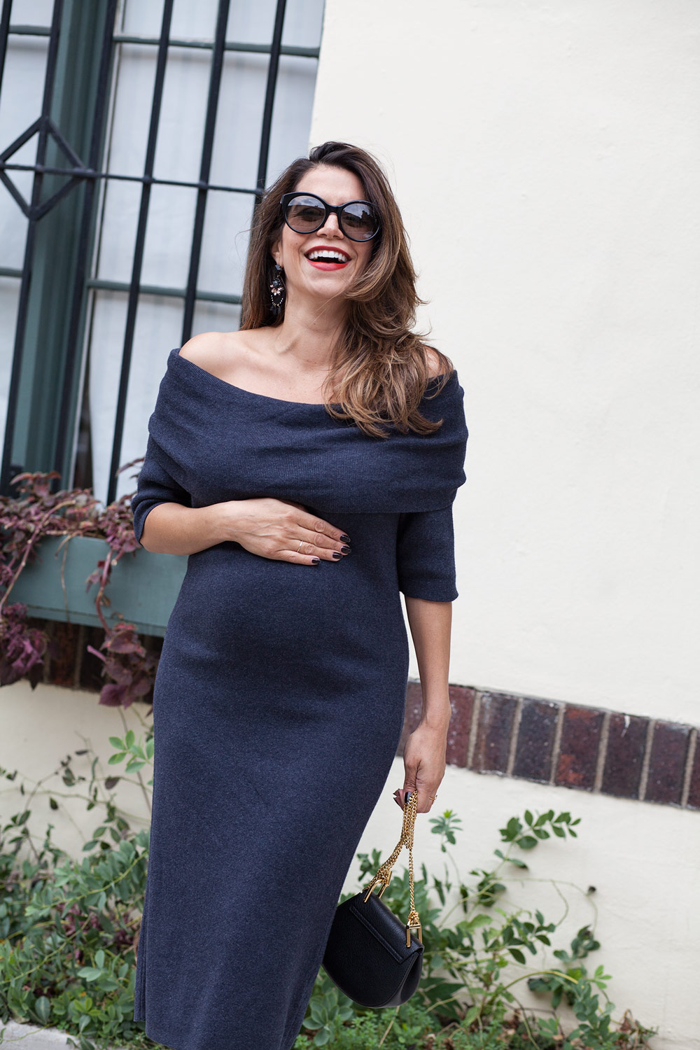 nordstrom-grey-off-the-shoulder-sweater-dress-workwear-chloe-dress-prada-cateye-sunglasses-fall-style-bump-style-maternity-looks-for-fall-corporate-catwalk-6