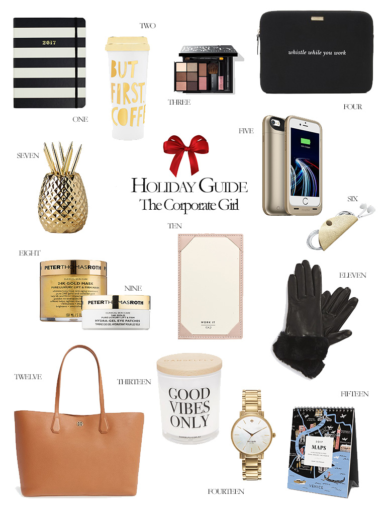 Gift Guide for the Corporate Girl 2016 Holiday Gift Guide Girl Boss