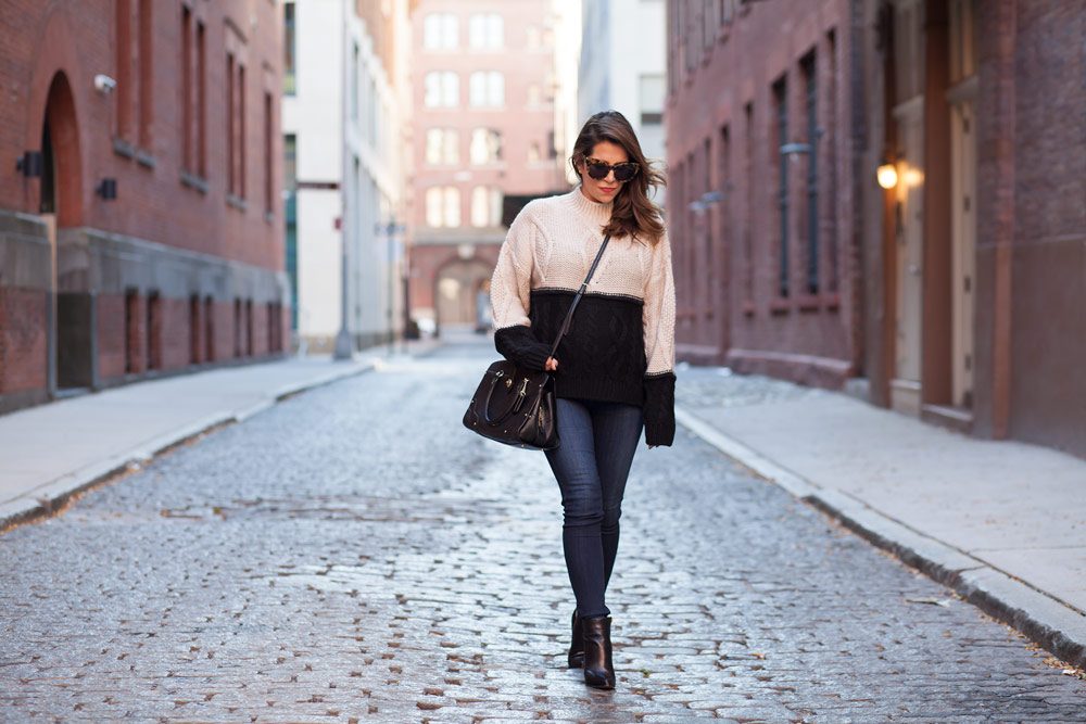 colorblock-sweater-denim-black-boots-fall-outfits-hm-sweater-coach-black-bag-corproate-catwalk-new-york-city-2