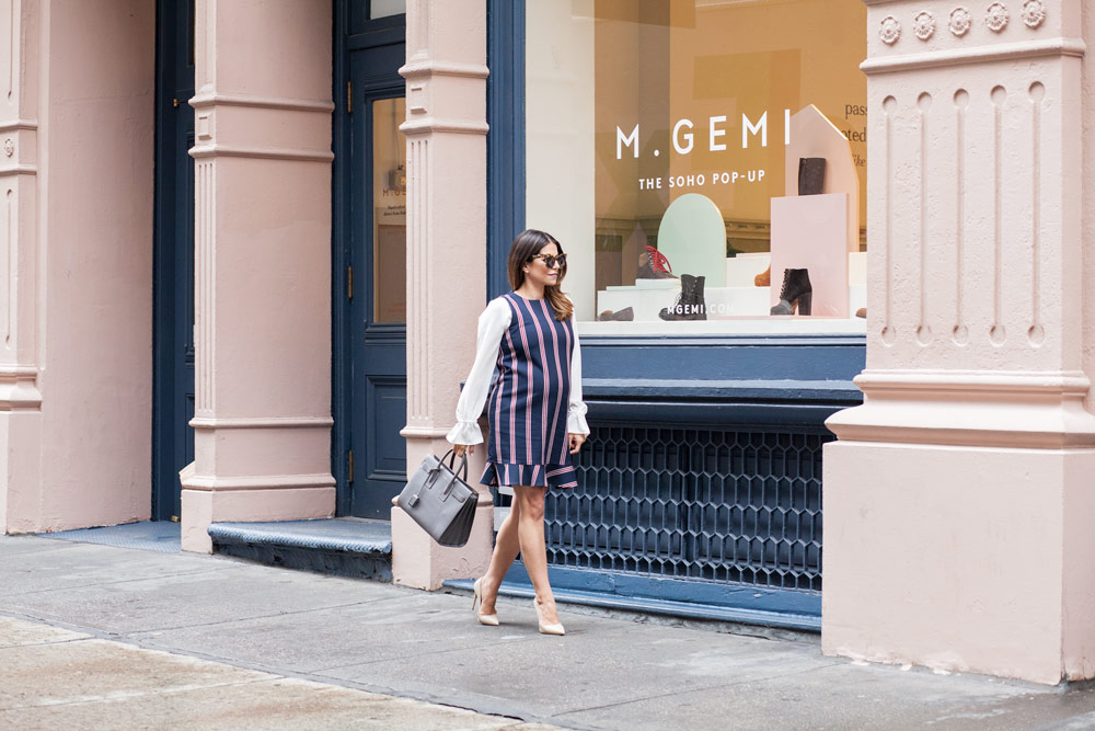 mgemi nyc soho pop up location saint laurent sac de jour grey bag what to wear to work corporate catwalk nyc new york city