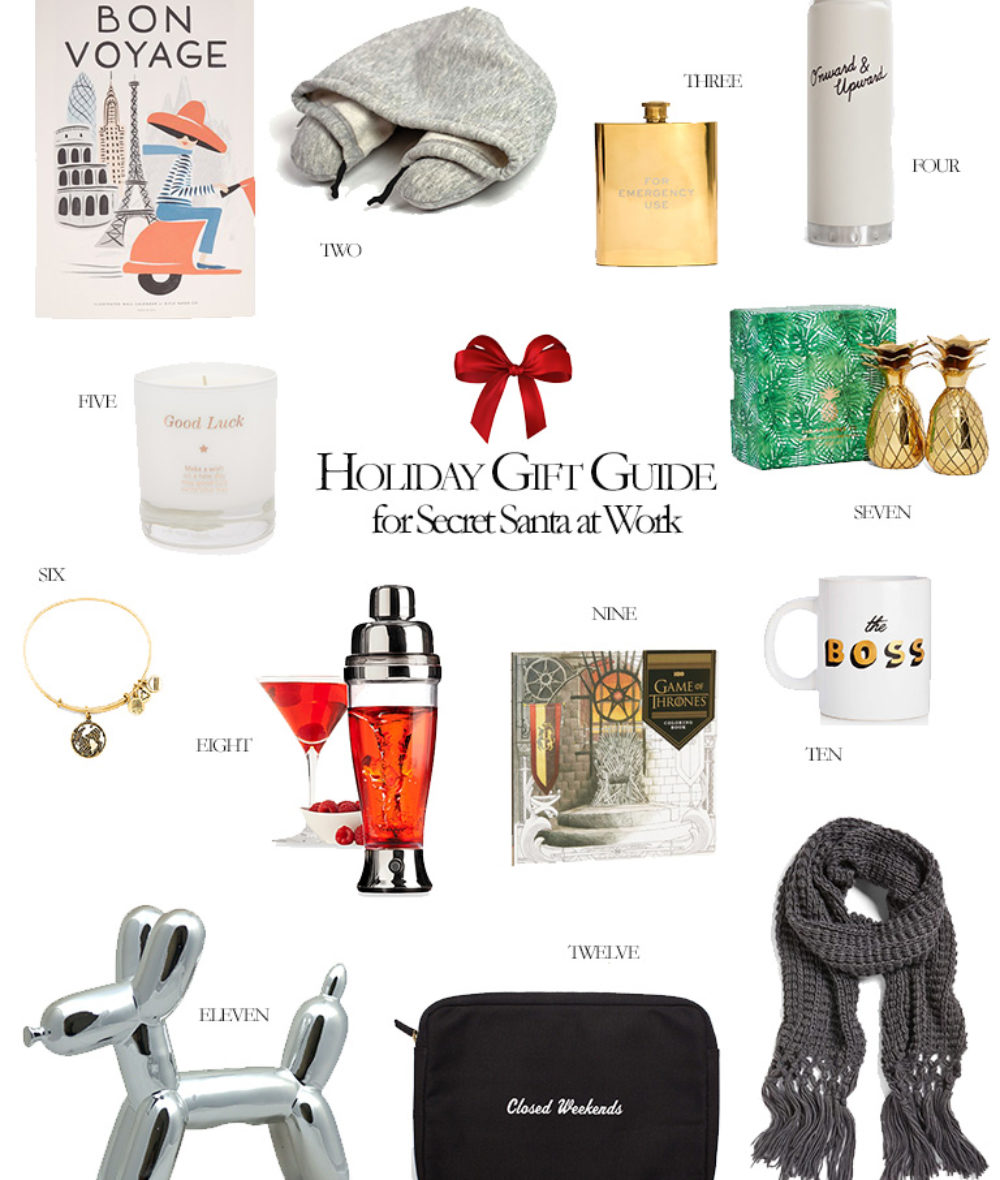2016 Holiday Gift Guide for Secret Santas at Work What to get for Your Gifts at Work Corporate Catwalk Holiday Gift Guides