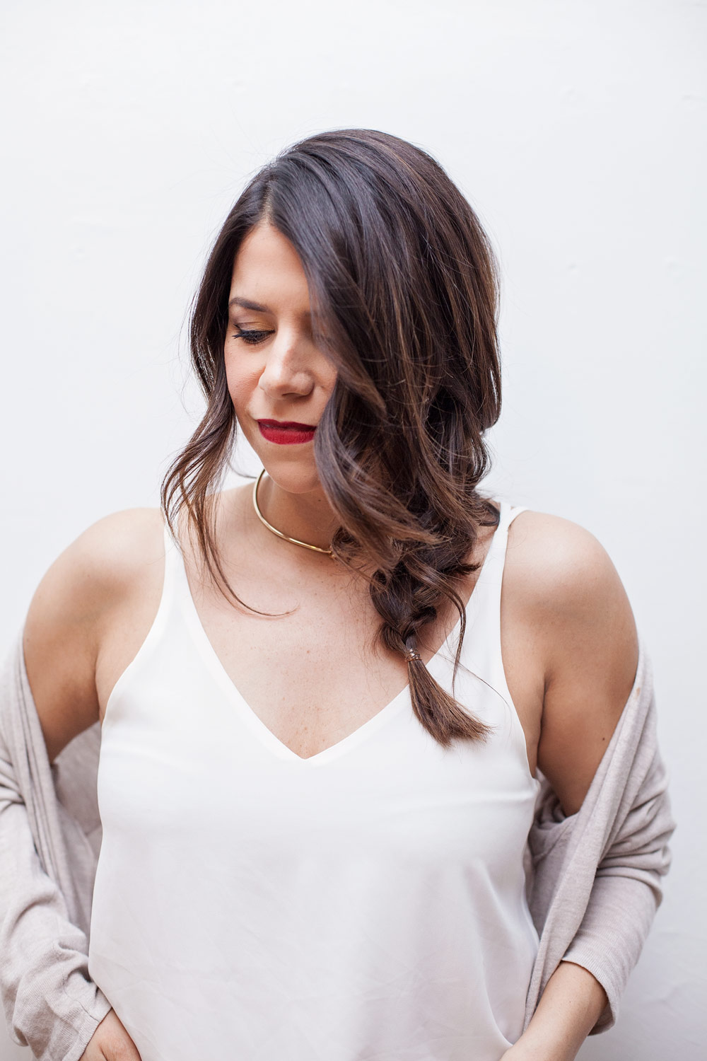 Messy Side Braid Easy hairstyles for New Year's Eve Braid tutorial how to style your hair this season Corporate Catwalk New York City