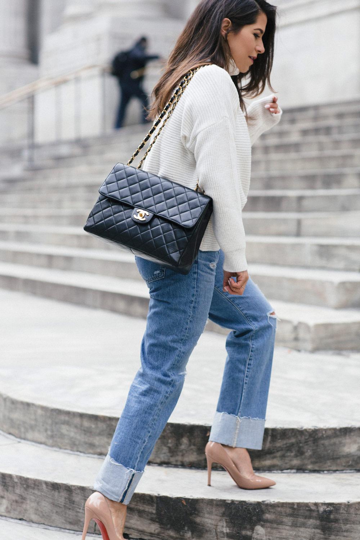 Raw Denim Look Chanel Handbag New York City Fashion Blogger Corporate Catwalk My Winter Favorites